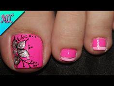 Pedicure Designs, Toe Nail Designs, Mani Pedi, Toe Nails, Nail Art, Rose, Makeup, Beauty, Nail Ideas
