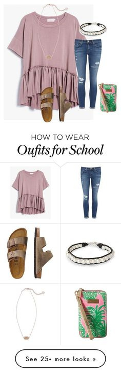 """I'm ready to go school shopping !"" by tankawanka Komplette Outfits, Spring Outfits, Casual Outfits, Fashion Outfits, Dress Fashion, Cute Outfits For School, College Outfits, Outfits For Teens, Winter School Outfits"