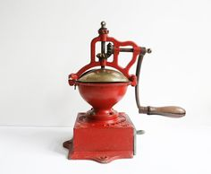 antique Peugeot coffee grinder A2 cast iron by VintageFrenchDecor