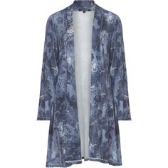 Twister Blue Plus Size Distressed denim look cover-up (150 CAD) ❤ liked on Polyvore featuring swimwear, cover-ups, blue, plus size, womens plus size swim wear, floral print swimwear, womens plus swimwear, plus size beach cover up and beach cover up