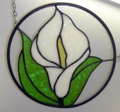 Calla Lily in stained glass.