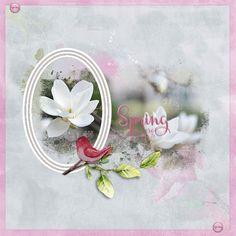 Happy Scrap Arts | Een mooie lente kit met veel aquarel elementen.