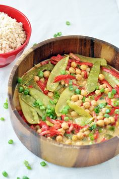 Green Curry with Chickpeas - Pulse Pledge