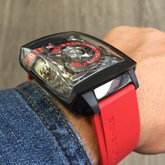 Hautlence HL2.5, Black case with Red accent!
