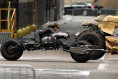 Anne Hathaway on the bike ~ Dark Knight Rises Batpod motorcycle ~