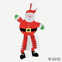 christmas activities and ideas santa crafts santa and legs - Santa Crafts