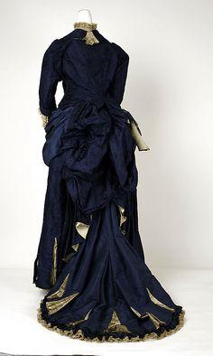 Dress, 1881-85, American. Back view.
