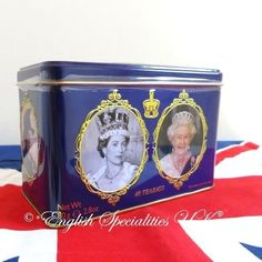 New English Teas】Queen Elizabeth ll Tin Breakfast Teabags エリザベス女王 ブレックファーストティーバッグ缶