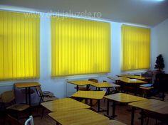 Galerie jaluzele verticale | Lexundros Conference Room, Curtains, Table, Furniture, Home Decor, Blinds, Decoration Home, Room Decor, Tables