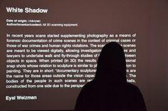 White Shadow.Berlin Transmediale 2013. Evil Media Distribution Centre Exhibition