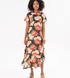 vestido longo chita oriental