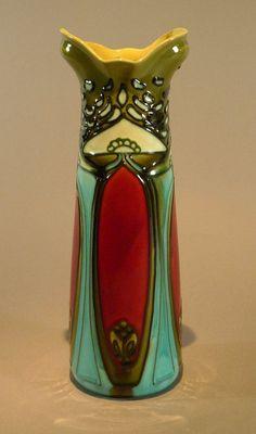 Minton Secessionist Majolica Vase Gorgeous Art Nouveau