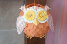 Owl made from lantern