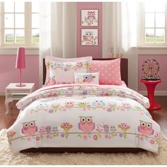 Mi Zone Kids Nocturnal Nellie Complete Bed and Twin Size Sheet Set