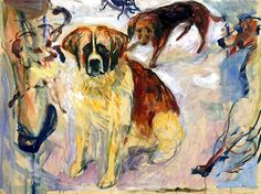 Edvard Munch - In the Kennel, 1913/15
