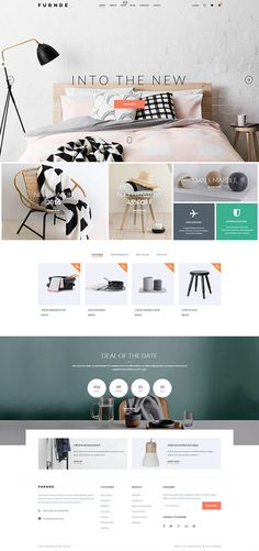 Buy Furnde - Responsive Ecommerce WordPress Theme by themealien on ThemeForest. Furnde is an unique and modern WooCommerce Wordpress shopping theme for WordPress built with Bootstrap and powered b. Layout Design, Web Layout, Page Design, Blog Design, Design Design, Webdesign Inspiration, Decoration Inspiration, Website Design Inspiration, Wordpress Website Design