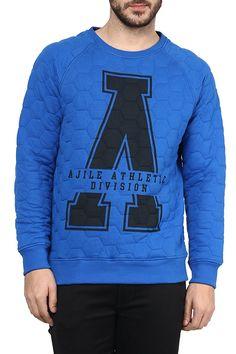 Ajile by Pantaloons Men s Cotton Sweat Shirt  Royal Blue XXL  Amazon.in   Clothing  amp 1bd50247d0