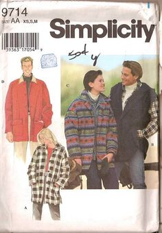 jackets simjplicity pattern - Google Search