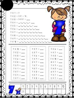 Teaching Multiplication, Teaching Math, School Items, School Days, Math Exercises, School Frame, Kids Math Worksheets, Simple Math, Skills To Learn