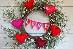 Rejuvinated Valentines Day Wreath - A Cuppa Tea With Me