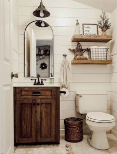 These rustic bathroom ideas will allow you to make a big impact with just a few . These rustic bathroom ideas will allow you to make a big impact with just a few elements. Check it now if you are a fan of rustic bathroom design! Rustic Bathroom Designs, Rustic Bathroom Decor, Bathroom Design Small, Bathroom Interior, Bath Design, Tile Design, Farmhouse Bathroom Sink, Rustic Bathroom Vanities, Design Design