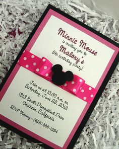 Adorable Tree - Minnie Mouse Invitation - Triple Layered by Adorable Tree, via Flickr
