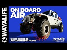 Jeep JL Wrangler and JT Gladiator Truck ARB Air Compressor Mount for Under the Hood Installation ACM - YouTube Jeep Hacks, Jeep Jl, Jeep Rubicon, Jeep Gladiator, Air Compressor, Monster Trucks, Youtube, Youtube Movies