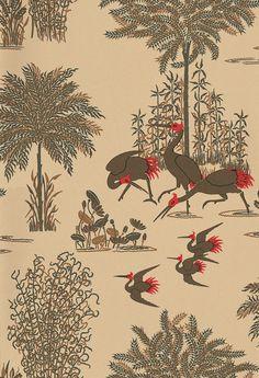 Osborne & Little Jagmandir Gold / Cream Wallpaper main image