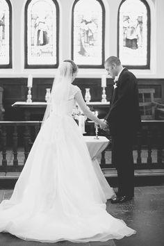 Blush and White Historic Church Wedding | Smithfield, Virginia | Wedding ceremony unity candle