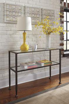 Tivion Contemporary Black Sofa Table