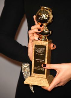 Actor Saoirse Ronan, Golden Globes trophy detail, attends Annual Post-Golden Globes Party hosted by Warner Bros. Pictures and InStyle at The Beverly Hilton Hotel on January 2018 in Beverly Hills, California. My Future Job, Future Career, Dear Future, Dream Career, Dream Job, Dream Life, Acting Career, Film Aesthetic, Life Goals