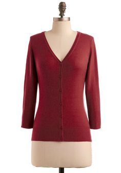 Charter School Cardigan in Rust, #ModCloth