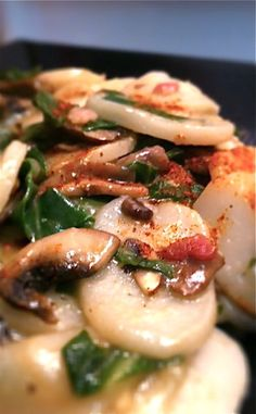 Shanghainese Style Stir-Fried Rice Cakes. wished i learned how to make these when granny was alive!