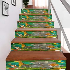 ⭐⭐⭐⭐⭐ 🔥 Jungle Stair Stickers for just $19.99 Free Shipping! 🚚 ➤ Stair Stickers, Pvc Material, Stairs, Free Shipping, Crafts, Stairway, Manualidades, Staircases, Stairways