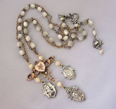 Religious Assemblage Necklace - One of a Kind Designs by JryenDesigns