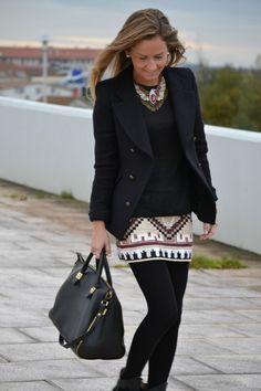 statement & native Zara skirt