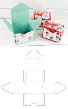 Little gift box - Origami Origami Design, Origami Art, Origami Bookmark, Origami Flowers, Paper Gift Box, Paper Gifts, Diy Paper Box, Gift Boxes, Paper Box Template