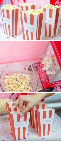 Mini Popcorns   19 DIY Movie Night Ideas for Teens that will get the party started!