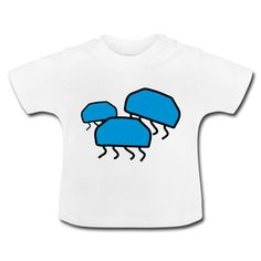 Drei Quallen Baby T-Shirt  Kurzärmeliges T-Shirt für Babys, 100% Baumwolle, Marke: Baby Bugz Baby T Shirts, Pullover, Baby Design, Onesies, Sweatshirts, Sweaters, Mens Tops, Clothes, Fashion