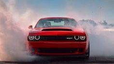 The 2018 Dodge Challenger SRT Demon Burnout.