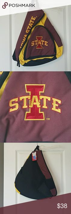 Iowa state backpack New with tags one strap iowa state university back pack ! Bags Backpacks