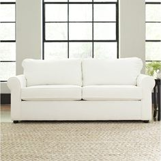 Complete your parlor or den ensemble with this understated sofa, perfect for extra guest seating or lounging with a Sunday-morning cappuccino.