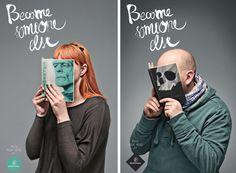 Communication en bibliothèque -campagne pour les librairies Vientu Monnaie