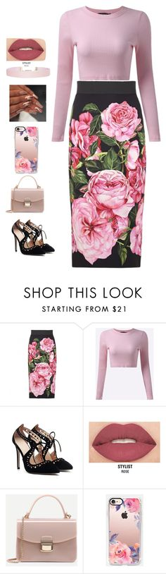 """""""Flowers"""" by greenneyes ❤ liked on Polyvore featuring Dolce&Gabbana, Smashbox, Casetify and Humble Chic"""