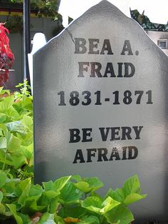Funny Tombstone for Halloween by Angie Beth, via Flickr