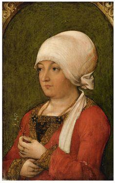 Schwäbischer Meister um 1515 Bildnis einer Patrizierin
