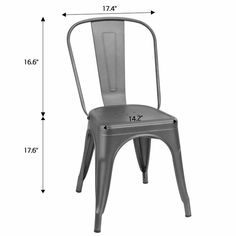 Lilian Metal Slat Back Stacking Side Chair Metal Chairs, Side Chairs, Bench Set, Foot Pads, Stackable Chairs, Rubber Flooring, Dining Chair Set, Space Saving, Coffee Shop