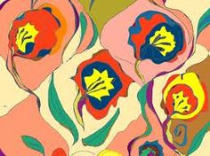 J Frizza Untitled-Pattern Organic Lines, Organic Shapes, Flower Silhouette, Repeating Patterns, Textile Patterns, Floral Motif, Flower Power, Art Gallery, Vibrant