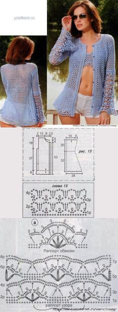 Openwork crochet blouse....♥ Deniz ♥