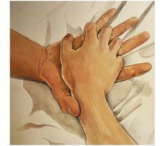 A Female Artist Creates Illustrations Capturing The Feeling Of Sensuality And The Beauty Of A Simple Touch Couple Drawings, Love Drawings, Art Drawings, Cute Couple Art, Art Of Love, Erotic Art, Art Sketches, Pencil Art, Fantasy Art